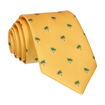 Bright Yellow Palm Trees Tie