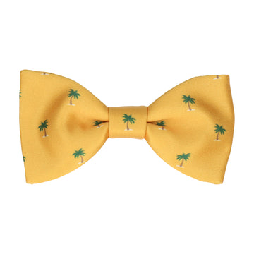 Bright Yellow Palm Trees Bow Tie