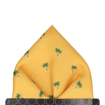 Bright Yellow Palm Trees Pocket Square