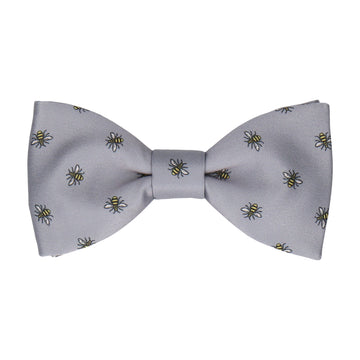 Manchester Bee Grey Bow Tie