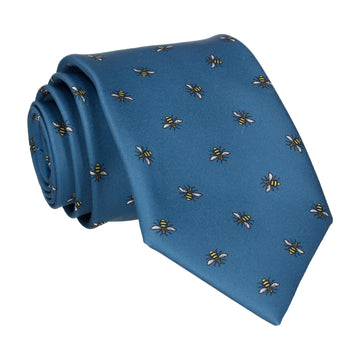 Manchester Bee Dark Blue Tie