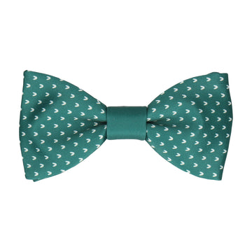 Jade Green Faux Knit Bow Tie