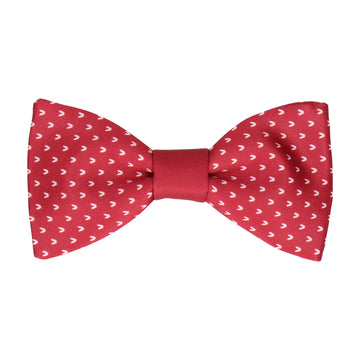 Red Faux Knit Bow Tie