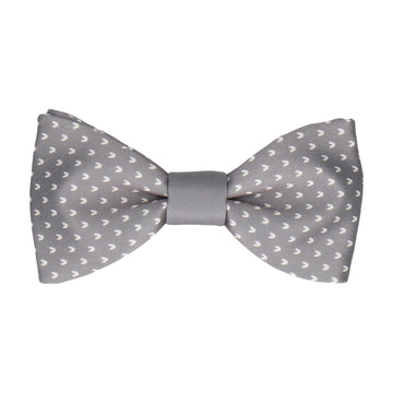 Grey Faux Knit Bow Tie