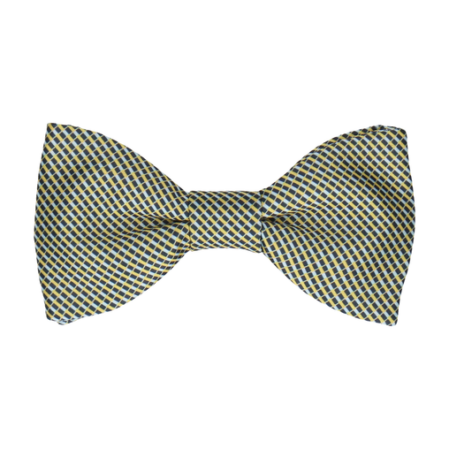 Andover Blue & Yellow Bow Tie