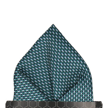 Andover Blue & Green Pocket Square