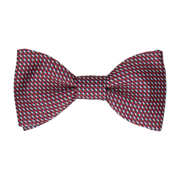 Blue & Red Mini Weave Bow Tie