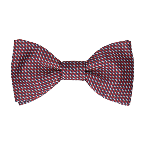 Andover Blue & Red Bow Tie