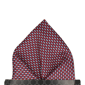 Andover Blue & Red Pocket Square