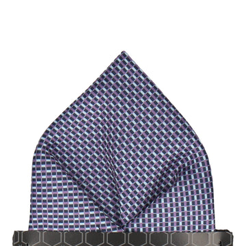 Andover Blue & Purple Pocket Square