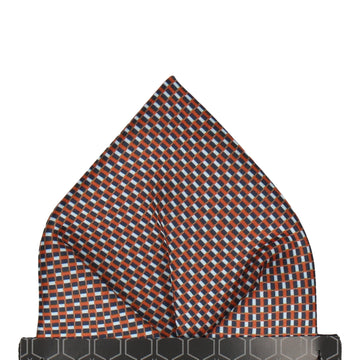 Andover Blue & Orange Pocket Square