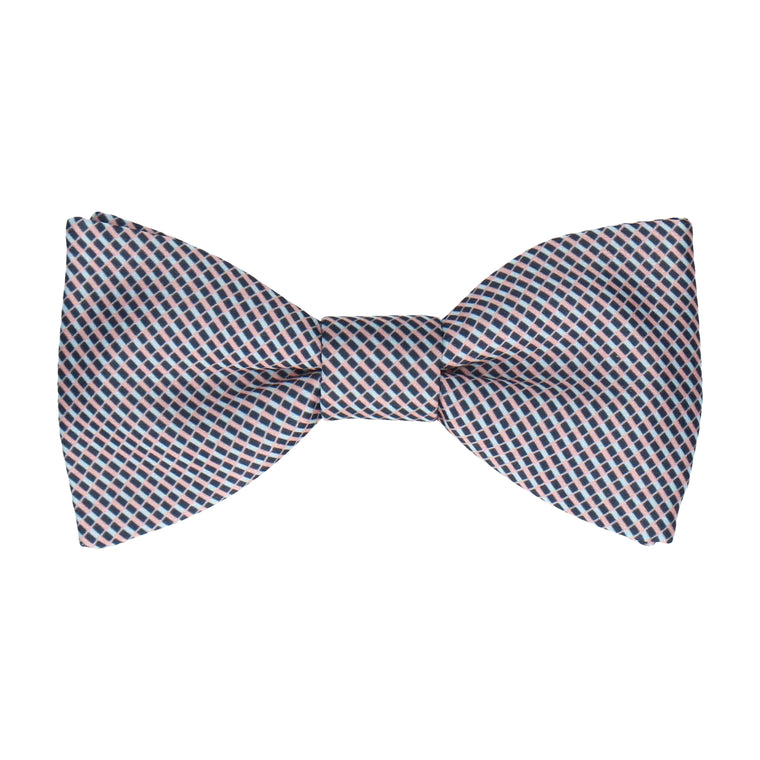 Blue & Pink Mini Weave Bow Tie