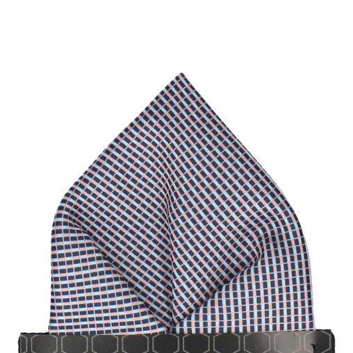 Andover Blue & Pink Pocket Square