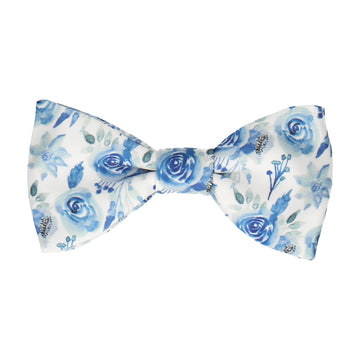 Josie Floral Dark Blue Bow Tie
