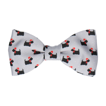 Christmas Scotty Dog Bow Tie