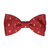 Christmas in Burgundy Bow Tie