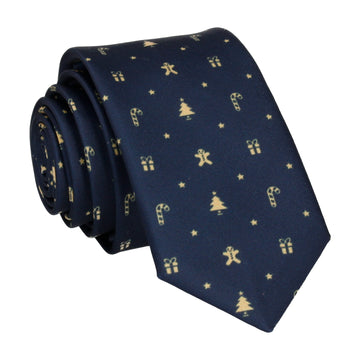 Navy Blue Christmas Tie