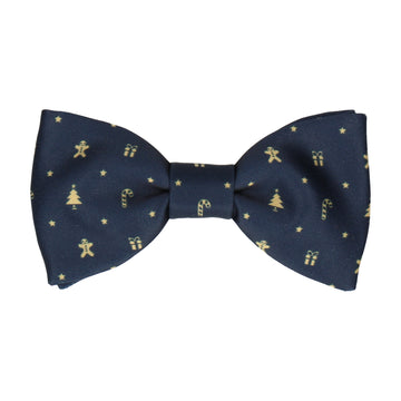 Navy Blue Christmas Bow Tie