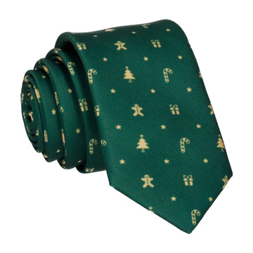 Fern Green Christmas Tie