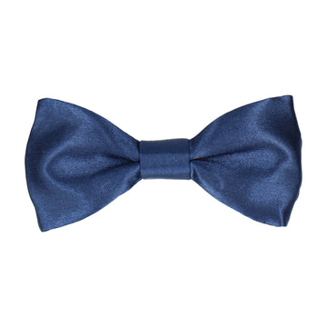 Plain Dark Navy Satin 'Basics' Bow Tie