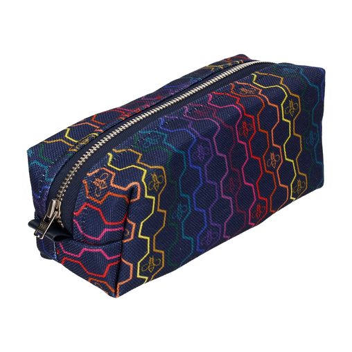 GEO HONEYCOMB IN RAINBOW COSMETIC BAG (SMALL)