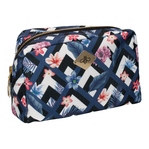 HONOLULU IN BLUE COSMETIC BAG (LARGE)
