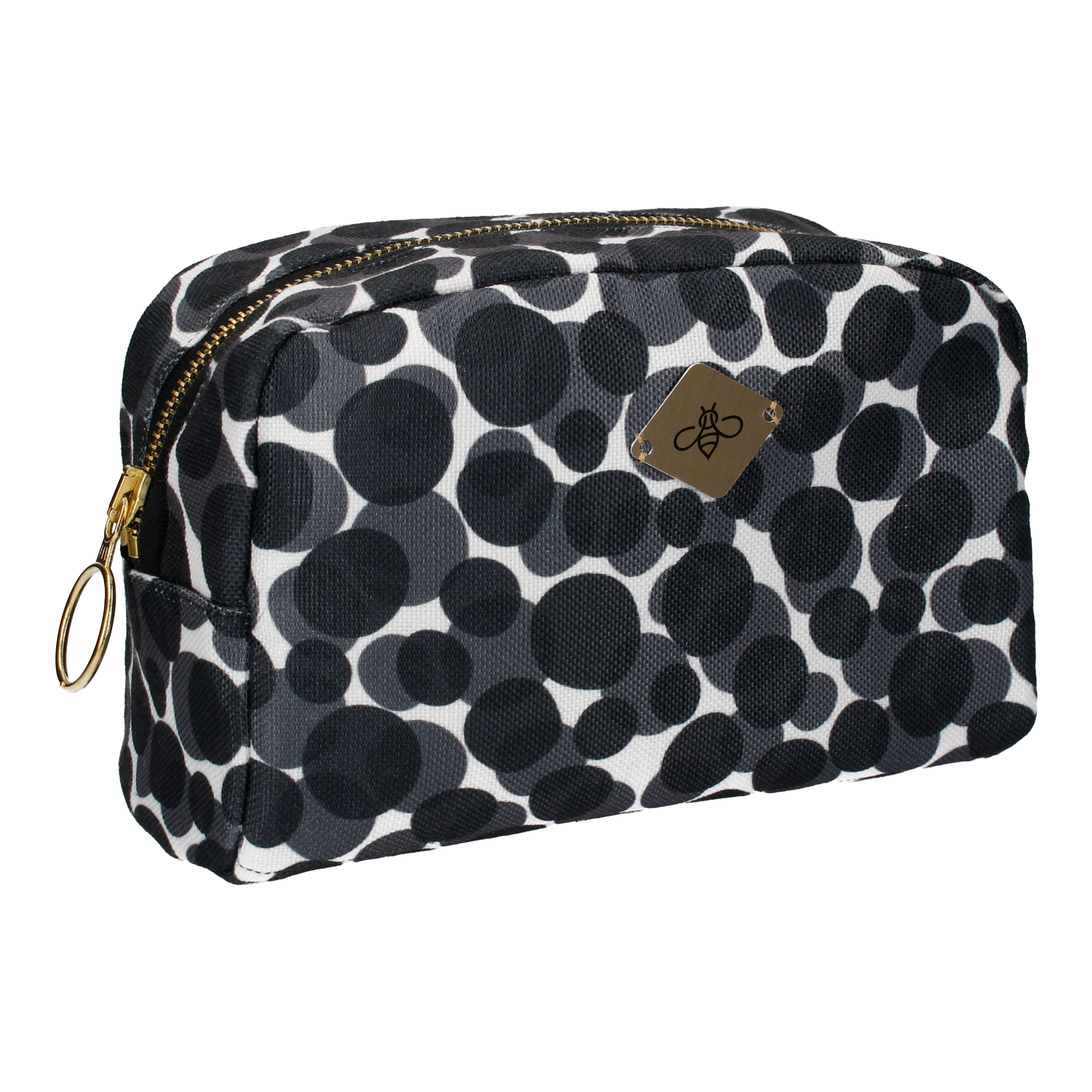 CATARA IN GREY COSMETIC BAG (LARGE)