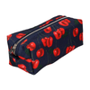 CHERRIES IN NAVY COSMETIC BAG (SMALL)