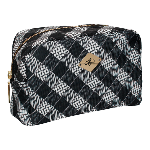 TRIBECA IN GREY COSMETIC BAG (LARGE)