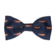 Foxes Navy Blue Bow Tie