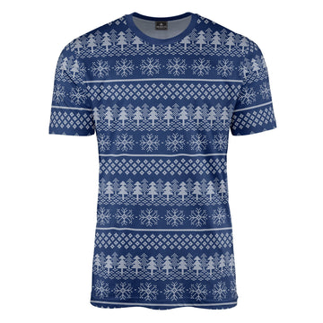 Christmas Fair Isle in Blue Tee