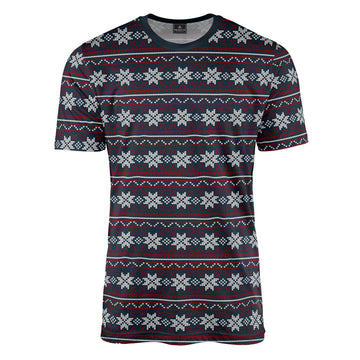 Repeat Fair Isle in Navy & Red Tee