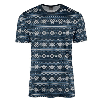 Repeat Fair Isle in Blue Tee