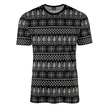 Christmas Fair Isle in Black Tee