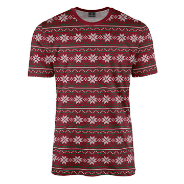 Repeat Fair Isle in Green & Red Tee