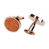 ROSE GOLD & WOOD CUFFLINKS