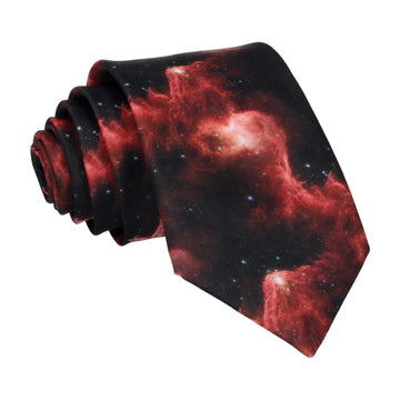 Galaxy Red Space Nebula Tie
