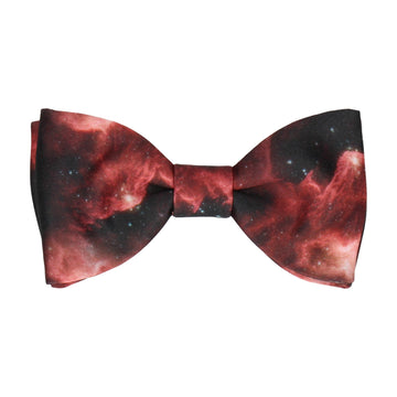 Red Space Nebula Bow Tie