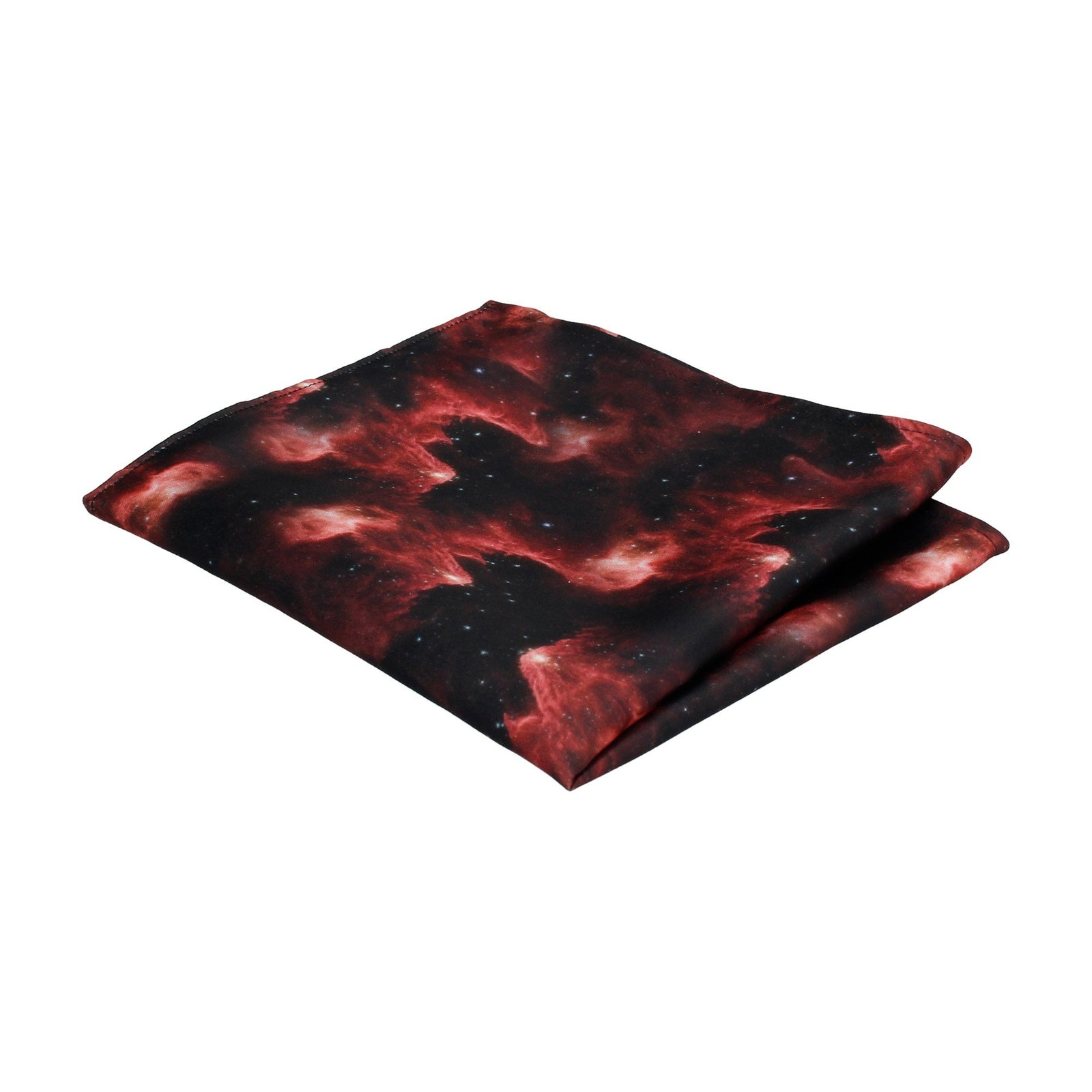 Galaxy Red Space Nebula Pocket Square