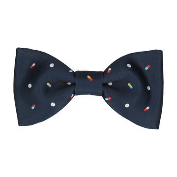 Medication Navy Blue Bow Tie