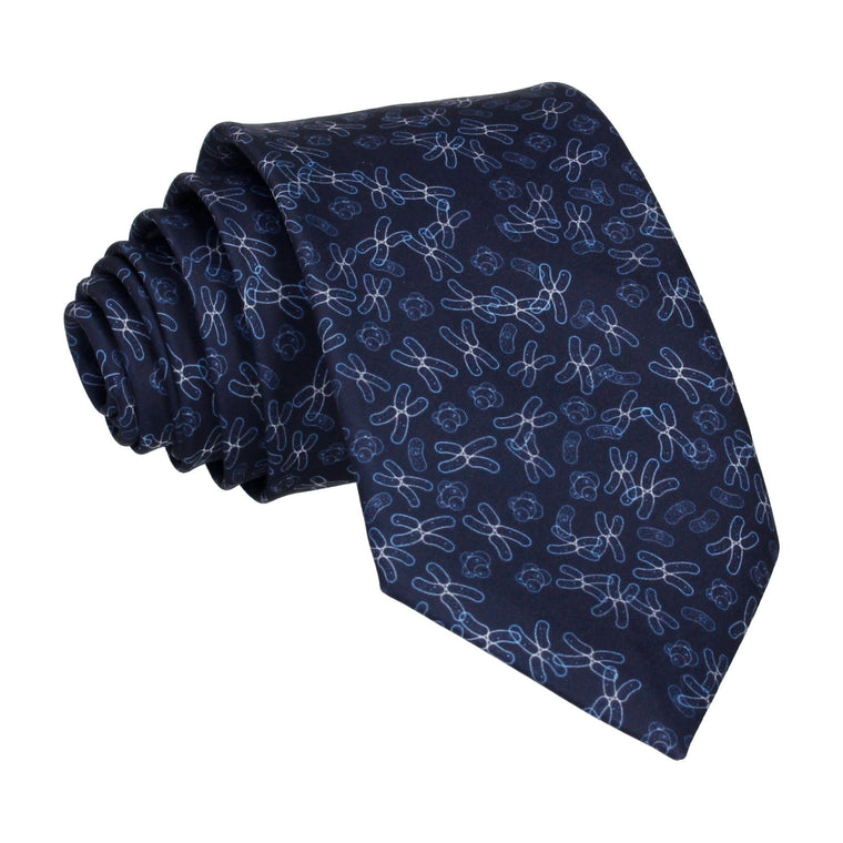 Germ Bacteria Cell Navy Blue Tie