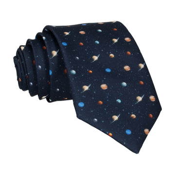 Solar System Science Icons Tie