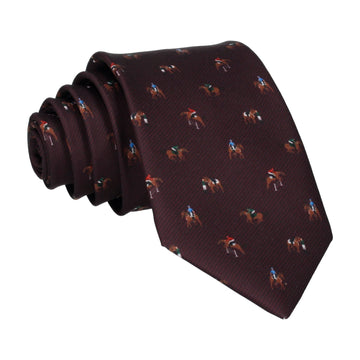 Burgundy Red Eventing Equestrian Tie