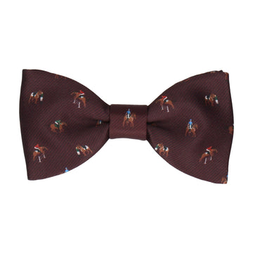 Equestrian Burgundy Red Bow Tie