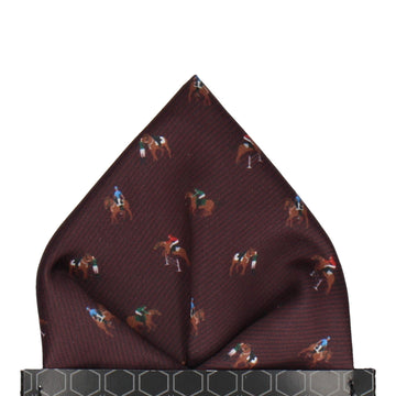 Burgundy Red Eventing Equestrian Pocket Square
