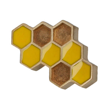 Gold Honeycomb Lapel Pin