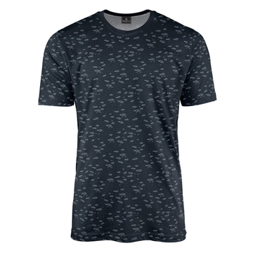 Navy Blue Fish T-Shirt