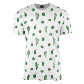 Watercolour Cactus Print T-Shirt