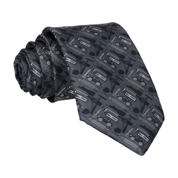 New York City Landmarks Dark Grey Tie