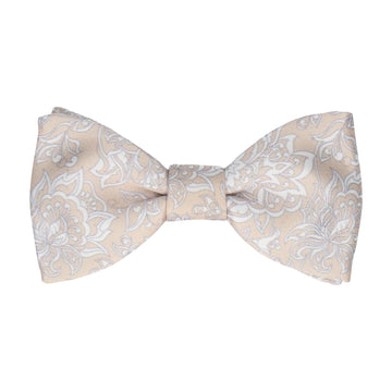 Champagne Vintage Floral Bow Tie